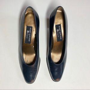 Stuart Weitzman Pumps Navy Blue Shoes 8.5 AA